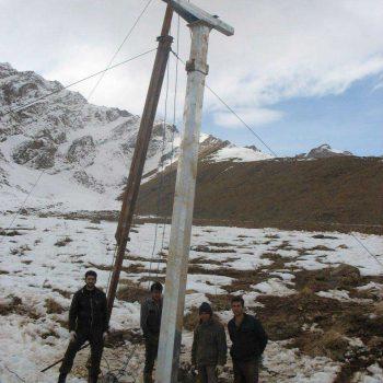 نصب پایه تله اسکی